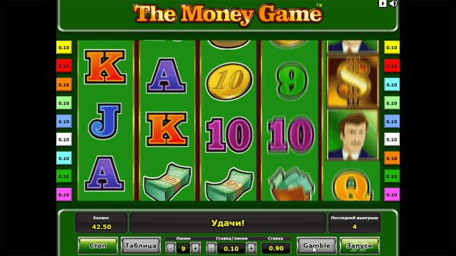 Характеристики слота The Money Game 8
